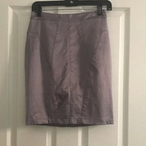 NWOT Silence and Noise Silver Pencil Skirt Sz 0